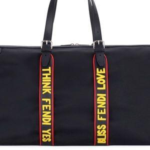 8e80418215 ... wholesale fendi bags vocabulary nylon leather travel duffel bag 2388f  ae17b ...